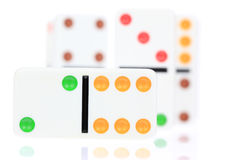 White Dominoes Royalty Free Stock Photography