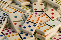 White dominoes Royalty Free Stock Image