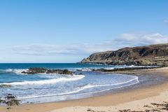 White Donegal Beach. This is a photo of a white sandy beach in Donegal Ireland Stock Photography