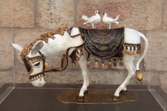 White donkey statue in shopping mall open gallery, Jerusalem, Is Stock Photos