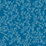 White doodle ivy leaves Royalty Free Stock Photos