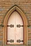 The White Door. The white entrance door to a church Stock Images