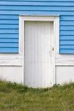 White Door. A white wooden door Royalty Free Stock Images