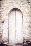 The White Door. Door of Country House in South of Italy Royalty Free Stock Photo