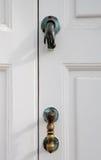 White door with a doorknob Royalty Free Stock Photos