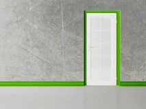 White  door in the empty room Royalty Free Stock Photos