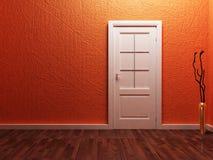White  door in the empty room Stock Photo