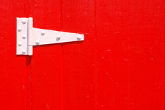 White Door Hinge Stock Photo