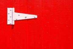 White Door Hinge stock photo