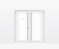 White door illustration Royalty Free Stock Photo