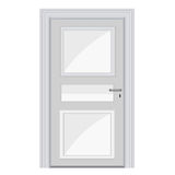 White door isolated illustration Royalty Free Stock Photos
