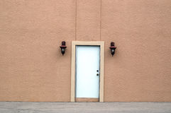 White door in large wall Royalty Free Stock Photos