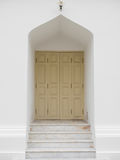The white door at Marble temple, Bangkok Thailand. Royalty Free Stock Photography
