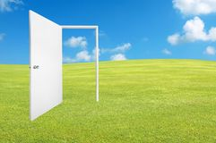 white door to new world Royalty Free Stock Images