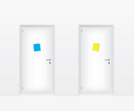 White doors illustration Royalty Free Stock Images