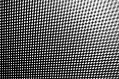 White dot pattern fade size gradient row. On black background Stock Images