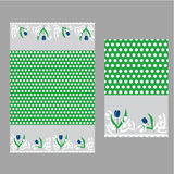 White dot and tulips. pattern seamless Royalty Free Stock Image