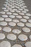 White dots. Asphalt texture with white dots stock images