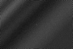 White dots on black background. Abstract halftone vector texture. Micro dotwork gradient for vintage effect. Monochrome halftone overlay. Perforated surface vector illustration