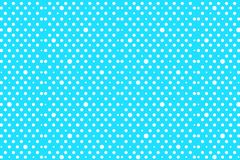 Polka dots background. White dots on blue pattern background.illustration design royalty free stock image