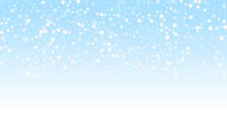 White dots Christmas background. Subtle flying sno. W flakes and stars on winter sky background. Beauteous winter silver snowflake overlay template. Ecstatic stock illustration