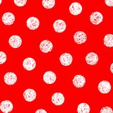 White dots on red. Background Royalty Free Stock Photography