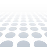 White dotted background of vision perspective. Vector illustration. Stock Photos