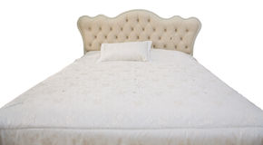 White double bed Stock Photography