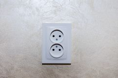 Socket on the wall close up stock photography