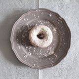 White doughnut Stock Photo
