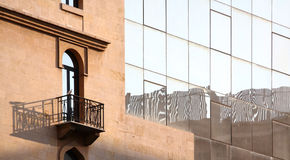 White Dove of Peace in Beirut (Lebanon). A white dove stands on a wrought iron balcony looking at Beirut (Lebanon Royalty Free Stock Photos