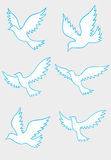 White dove silhouette Royalty Free Stock Photos