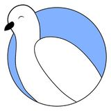 White dove sticker icon Royalty Free Stock Photography