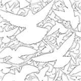 White dove tile Royalty Free Stock Photo