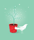 White dove (vector) Royalty Free Stock Photography