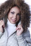 White down-padded coat Royalty Free Stock Photo