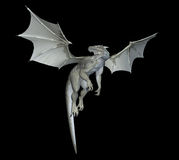 White dragon. Isolated on black Royalty Free Stock Photo