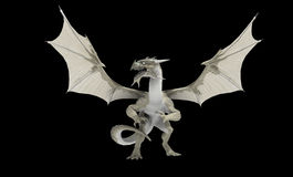 White dragon. Isolated on black Stock Photography