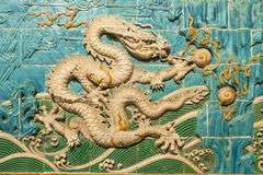 White Dragon Decoration on Wall Royalty Free Stock Image