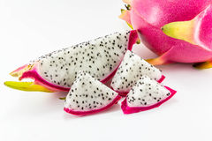 White dragon fruit Stock Photos