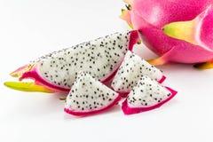 White dragon fruit Stock Photos