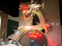 White Dragon. At hotel in Macau Stock Photos