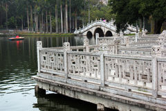 White Dragon Lake in People`s Park, Nanning, China Stock Photography