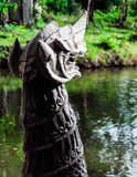 White dragon sculpture Royalty Free Stock Photos