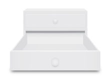 White Drawer Box Royalty Free Stock Image