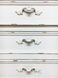 White drawers detail Royalty Free Stock Photo