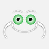 White drawing frog with green eyes Royalty Free Stock Photo