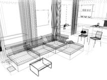 White drawing room Stock Photography