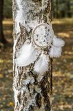 White dream-catcher Royalty Free Stock Photography