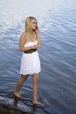 White dress talking Royalty Free Stock Photos